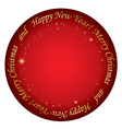 red background - merry christmas vector image