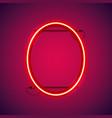 red neon ellipse frame vector image vector image