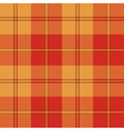 Red warm color tartan seamless texture vector image vector image