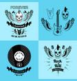 rock n roll forever music fest vector image vector image