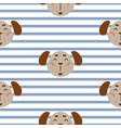 seamless pattern with dogs cute childish textile vector image