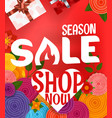 season sale offer shopping banner template vector image