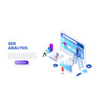 seo analyses and optimization design concept with vector image