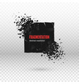 shatter and destruction dark square effect vector image vector image