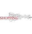 shop word cloud concept vector image vector image