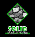 solid like a rock abstract green style flat logo vector image vector image