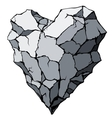 Stone heart vector image vector image