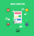 style mobile marketing design flat vector image vector image