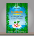 summer beach party design template season vector image vector image