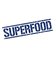superfood stamp vector image vector image
