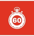 The 60 seconds minutes stopwatch icon Clock and vector image vector image