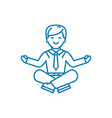 time to relax linear icon concept time to relax vector image