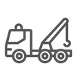 tow truck line icon transport and service vector image vector image