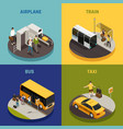 travel people isometric design concept vector image