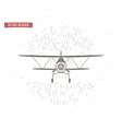 Vintage Airplane background with sunbursts Flying vector image vector image