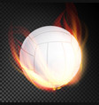 volleyball ball realistic white volley vector image vector image