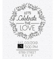 wedding and married invitation card with circular vector image