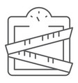 weight scale thin line icon weighing and vector image