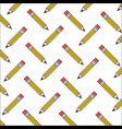 wooden pencil school creativity pattern vector image vector image