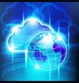 big cloud world vector image