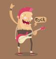 Punk rock guitar player vector image