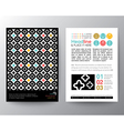 Abstract Pattern Poster Brochure Flyer Layout vector image