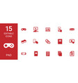 15 pad icons vector image vector image