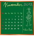 2012 calendar blackboard vector image