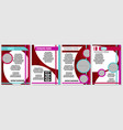 a selection of red brochures for advertising vector image vector image