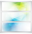 abstract geometric trianglular banners set vector image vector image