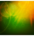 Abstract Sunset on sky with lenses flare vector image vector image