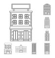 architecture and exterior vector image