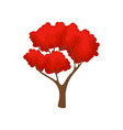 big autumn tree with bright red leaves natural vector image