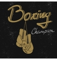 boxing vintage label for t-shirts vector image vector image