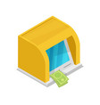 cash dispenser isometric 3d icon vector image vector image