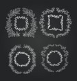 chalkboard doodle branches frames set wreath vector image vector image