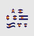 colorado flag state set vector image vector image