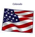 colorado full american flag waving in wind vector image vector image