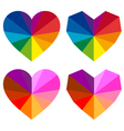 Colorful hearts set vector | Price: 1 Credit (USD $1)
