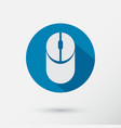 computer mouse icon in flat flat design vector image