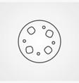 cookie icon sign symbol vector image