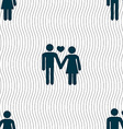 couple in love icon sign Seamless pattern with vector image vector image