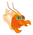 Crab in seashell vector image