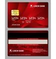 Credit cards two sides design vector image