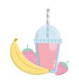 delicious tasty food cartoon vector image vector image