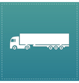 detailed trucks silhouettes vector image vector image