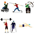 disabled people go in for sports vector image vector image