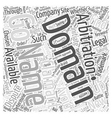 Domain Name Arbitration Word Cloud Concept vector image vector image