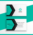 elegant turquoise color hexagonal shape business vector image vector image
