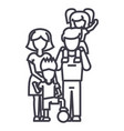 familyon father s shoulders mother holding son vector image vector image